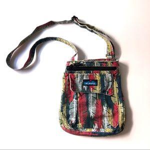 Kavu For Keeps Crossbody Feather Print Purse Bag